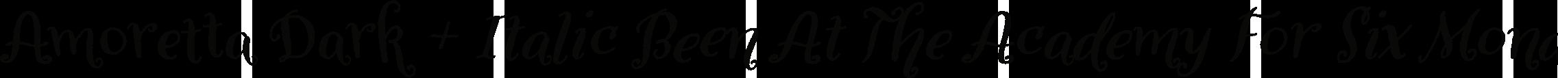 Amoretta Dark + Italic