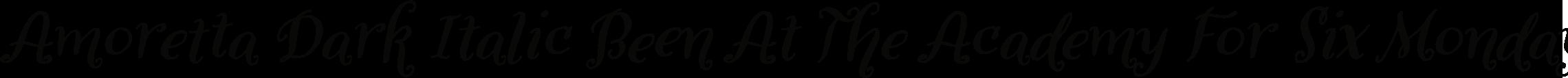 Amoretta Dark Italic