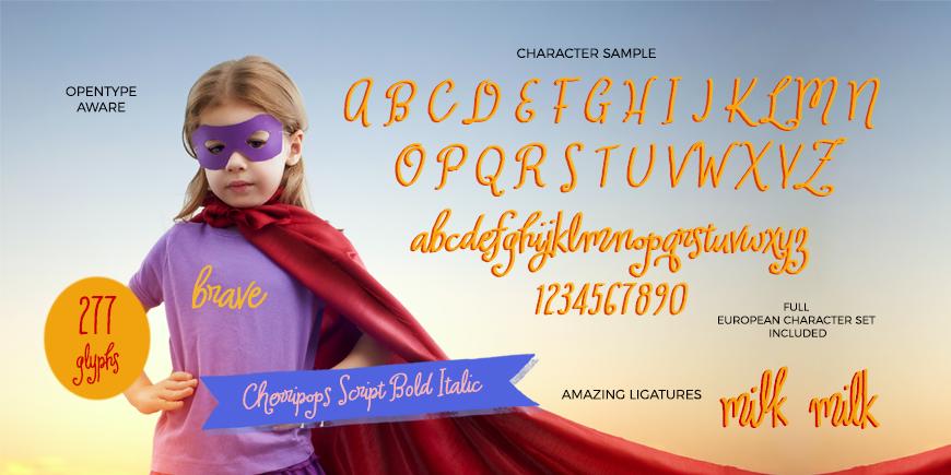 Cherripops Script Bold Italic