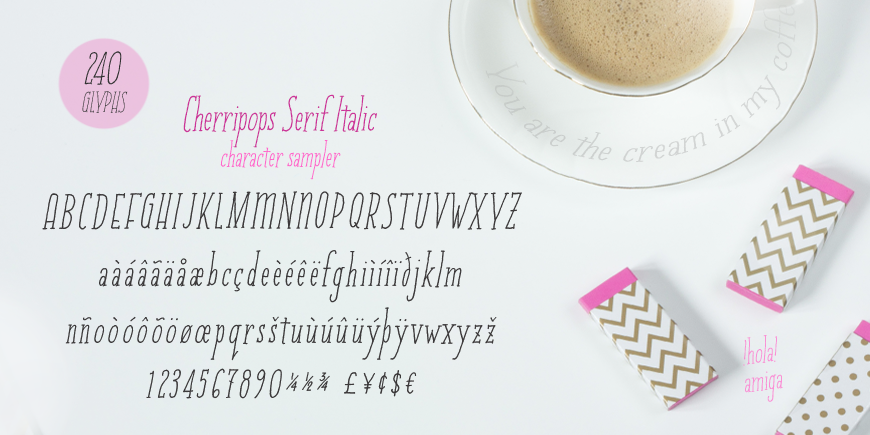 Cherripops Serif Italic