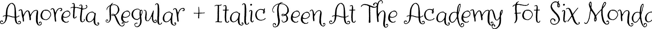 Amoretta Regular + Italic