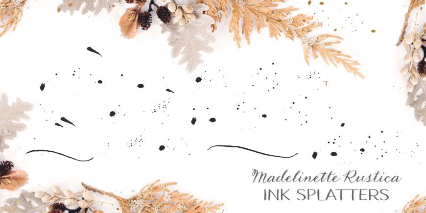 Madelinette Rustica Ink Splatters