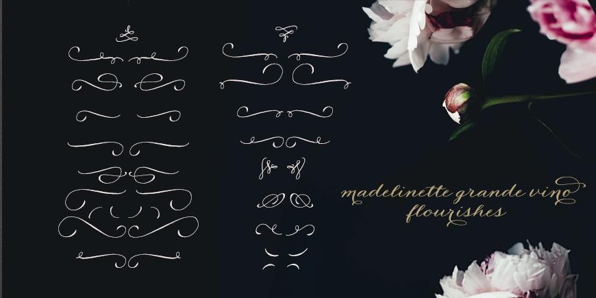 Madelinette Grande Vino Flourishes