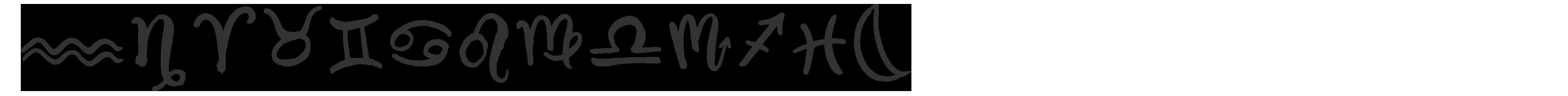 Epicursive Astrological Symbols